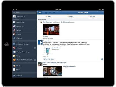 Facebook sur Ipad