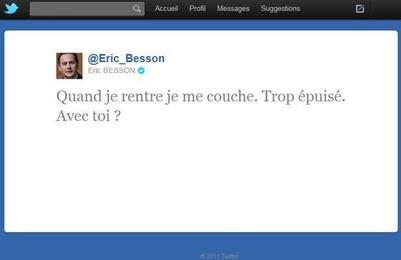 Twitter Eric Besson va se coucher