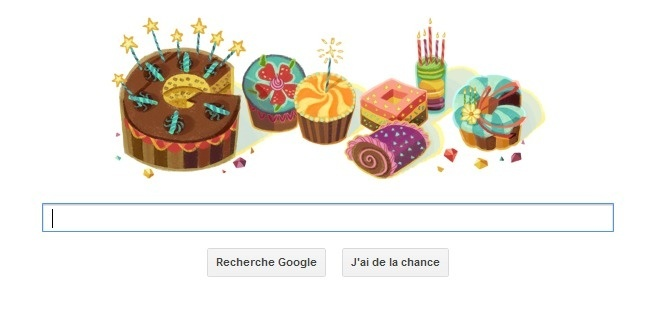 Doodle anniversaire par  Google !