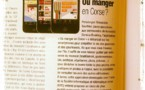 Ou Manger En Corse dans la presse....et en publicit partout.