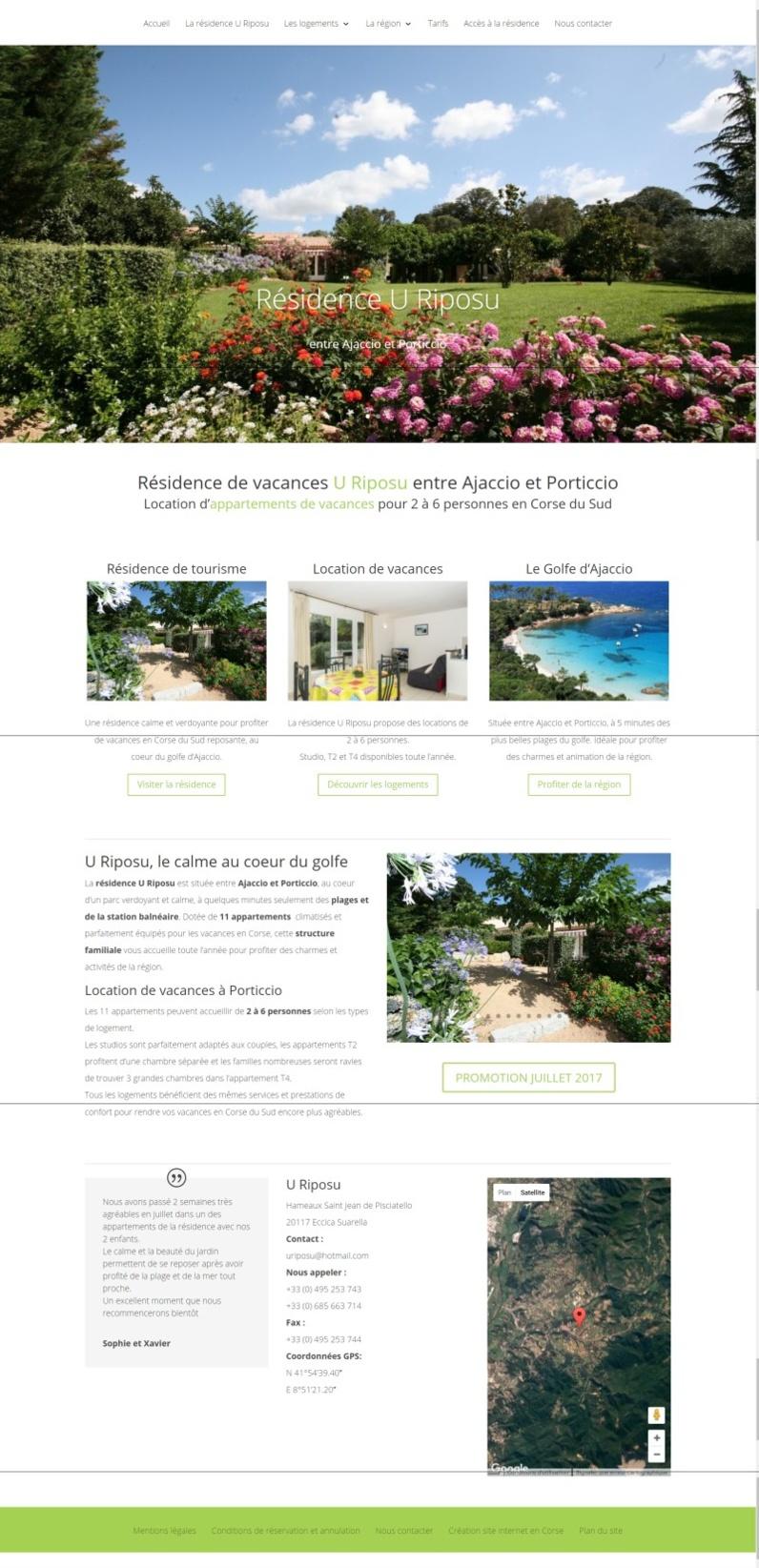 Nouvelle réalisation résidence U Riposu à Eccica