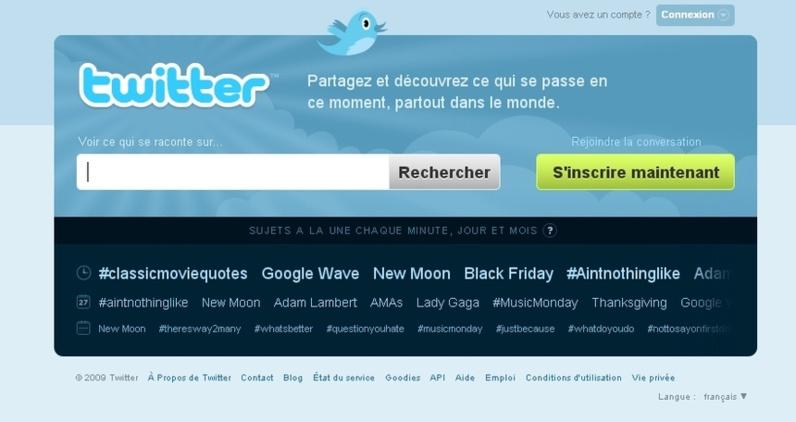 Twitter en français.