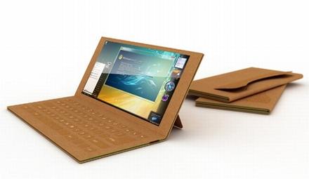 L'ordinateur portable en carton de Je Sung Park