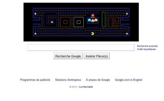 30 ans de Pac Man by Google