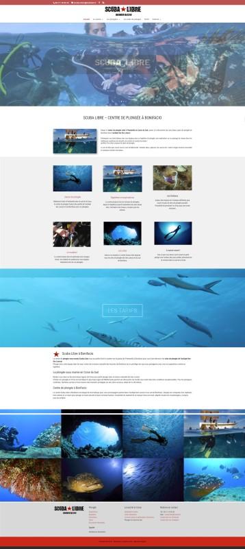 Nouvelle réalisation : le site Scuba Libre