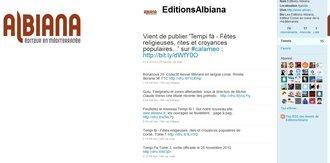 Albiana sur Twitter