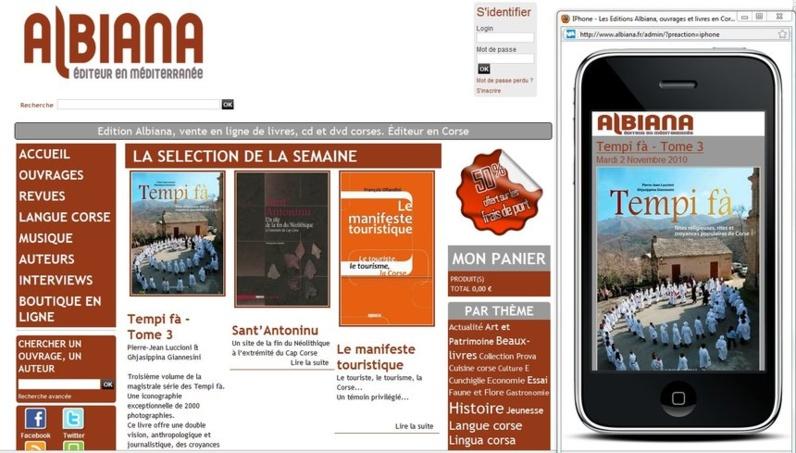 Albiana.fr et sa version mobile m.albiana.fr