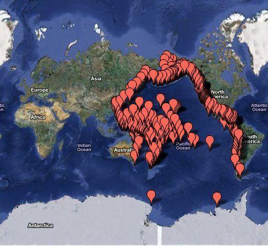 Google Map Tsunami
