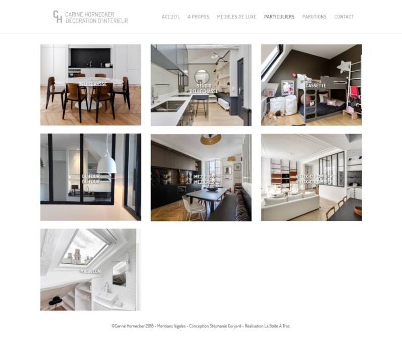 Nouveau site internet : Carine Hornecker, décoratrice à Paris