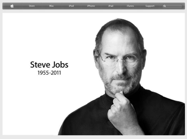 Steve Jobs sur Apple.com