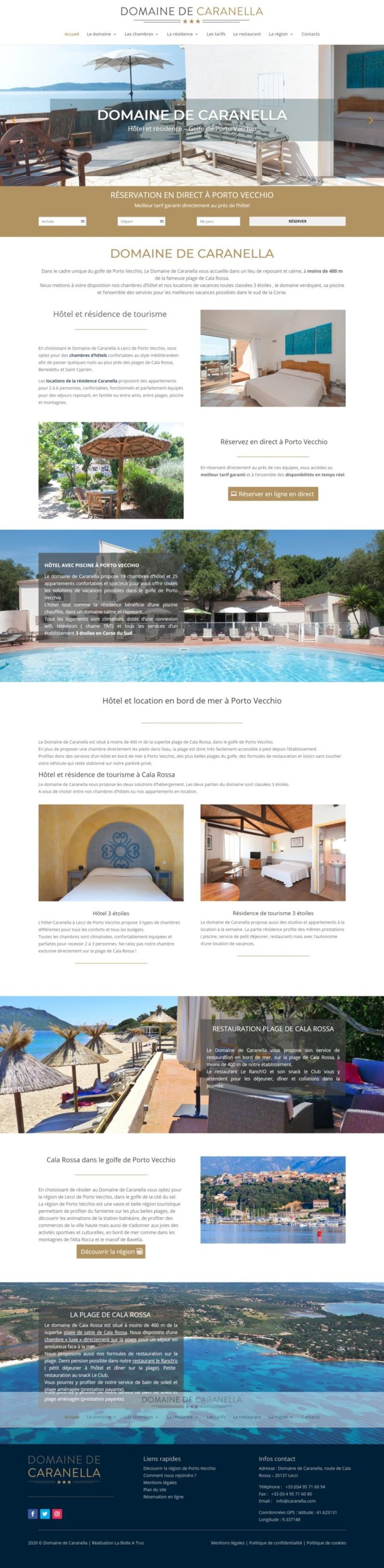 Nouveau site internet : Domaine de Caranella