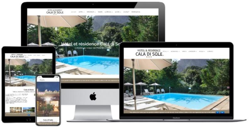 Refonte site hôtel Cala di Sole