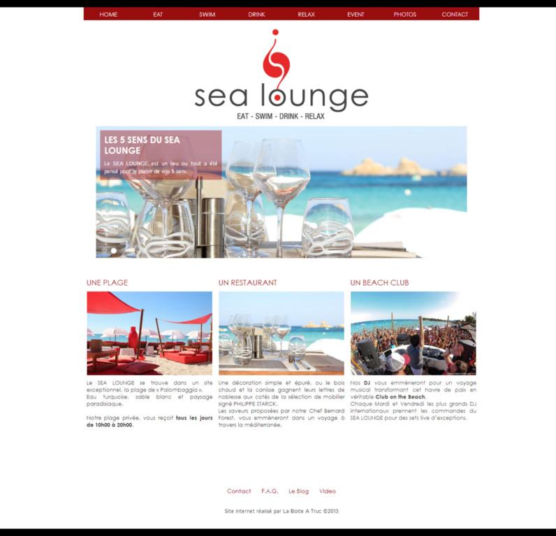 Nouveau Site internet Sea Lounge Porto vecchio