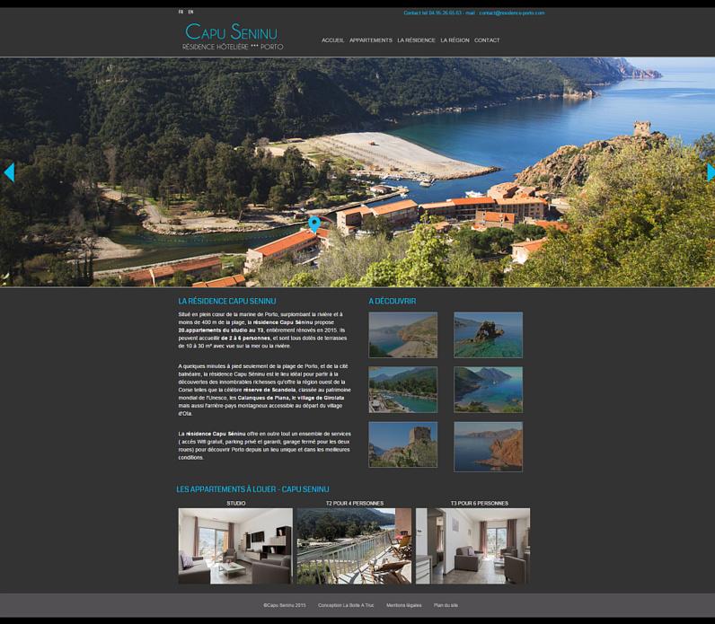 Le site Capu Seninu - Porto