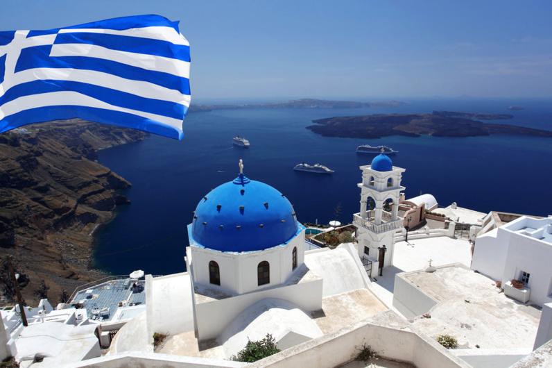 Santorini dans les Cyclades