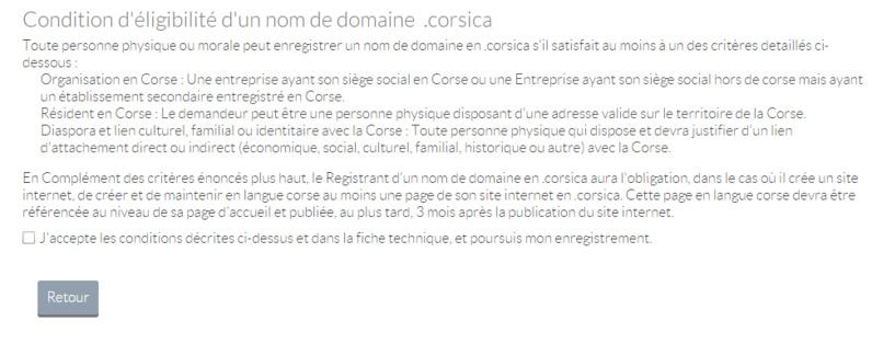 Dot Corsica, avoir son extension en .corsica !