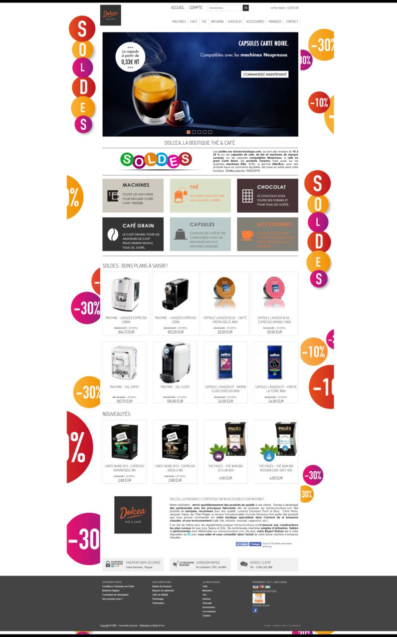 La boutique en ligne Dolcea