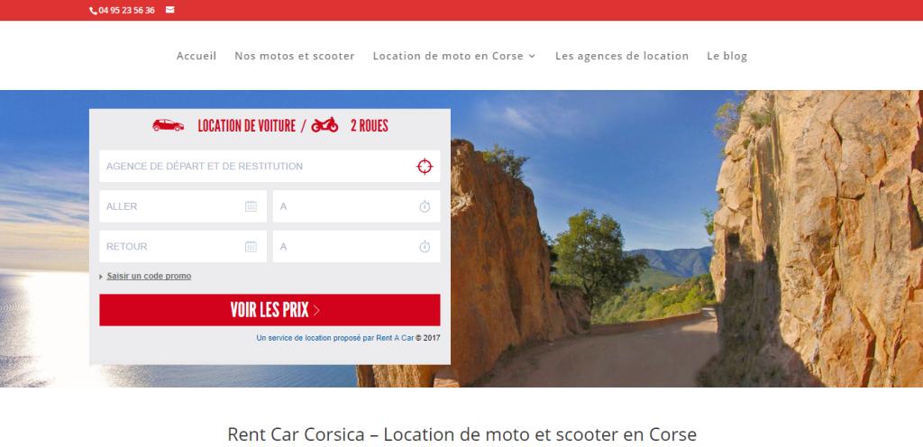 Nouveau site internet : Rent Car Corsica