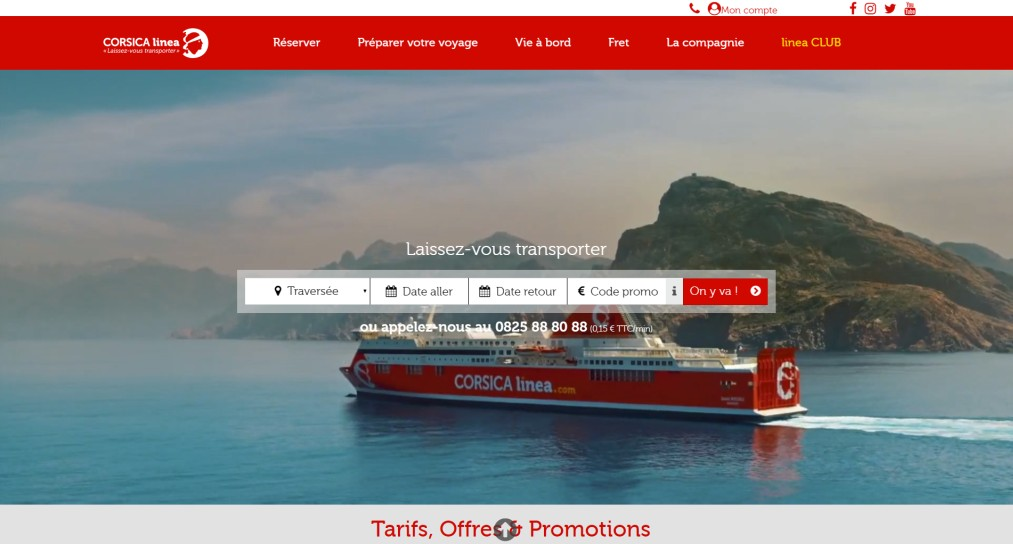Le nouveau site de Corsica Linea