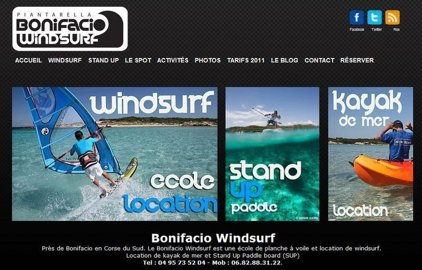 Le nouveau site du Bonifacio Windsurf
