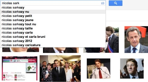 Google Suggest et Sarkozy