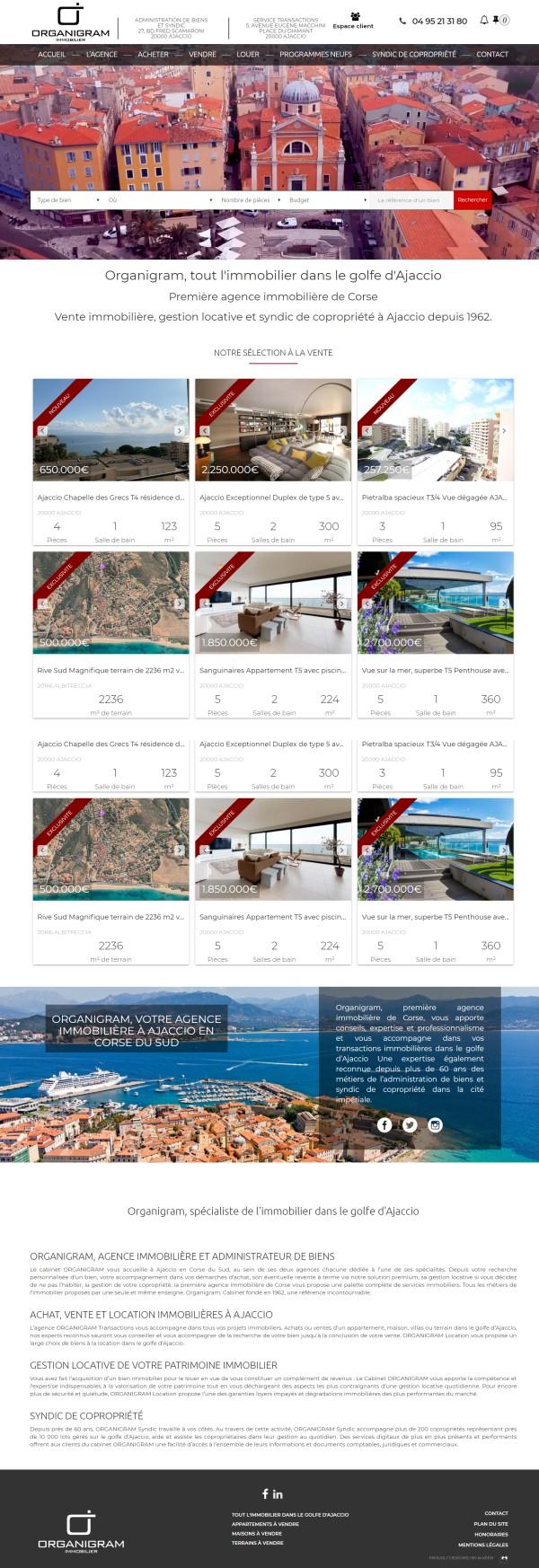 Agence Immobilière Organigram à Ajaccio
