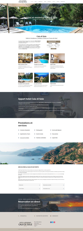 Nouveau site de l'hôtel Cala di Sole