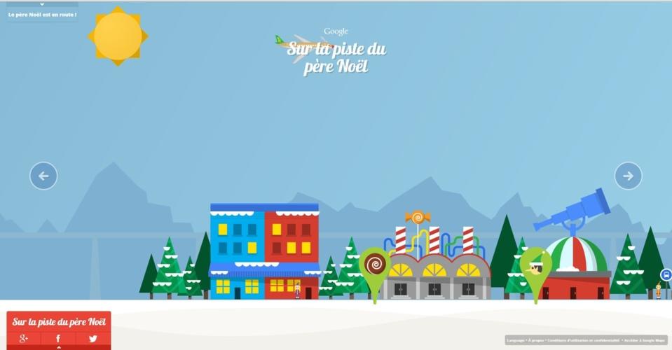 Sur la piste de Père Noel par Google