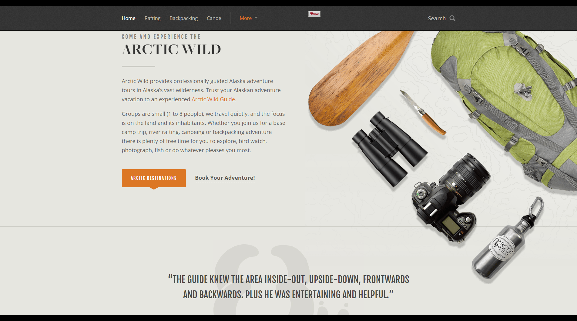 Etourisme, un coup de coeur pour le site Artic Wild