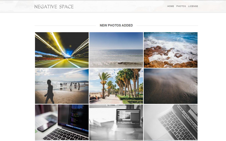 Nouvelles photos sur Negative Space