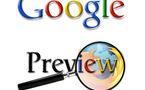 Google preview...la pré visualisation des pages résultats.