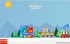Sur la piste du père Noel par Google